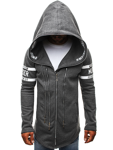 OZONEE Herren Kapuzenpullover Sweatshirt Sweatjacke Assassin/'s J.STYLE 2036-10