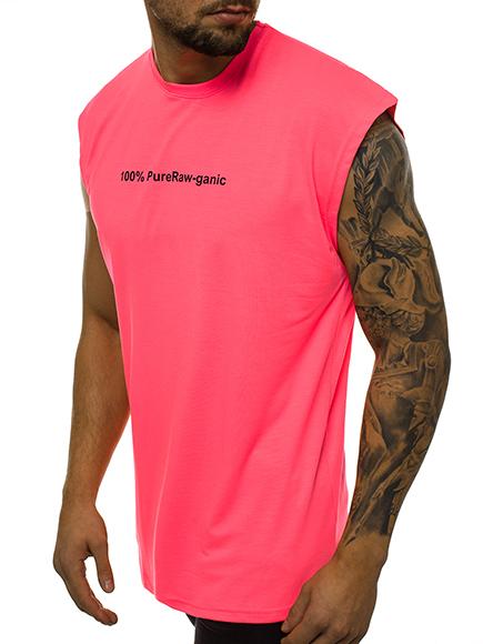 Tanktop T-Shirt Muskelshirt Neon Basic Fitness Sommer OZONEE MACH//1062B Herren