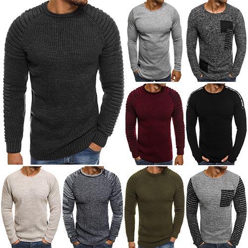 ff42359259979e Strickpullover Pullover Sweatshirt Sweater Pulli Langarm Herren ...