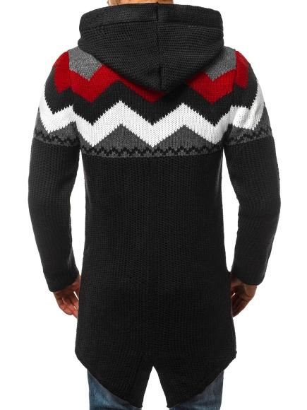 Sweatjacke Kapuzenpullover Strickjacke Pulli Lang Sweater