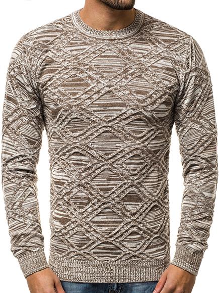 053822a0691a2d Herren Strickpullover Langarmshirt Sweatshirt Figurbetont Sweats ...