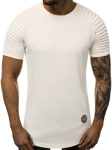 T-Shirt Kurzarm Shirt Rundhals Slim Fit Casual Basic OZONEE O//1256 Herren
