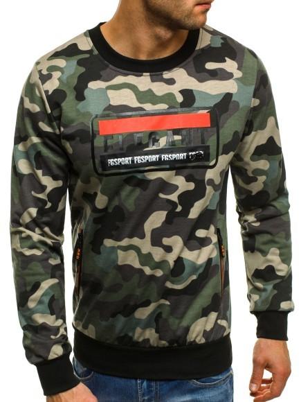 Sweatshirt Langarmshirt Pulli Motiv Camouflage Army Print