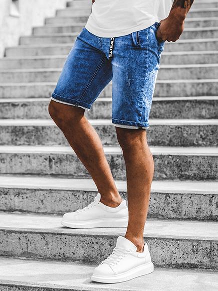 Details zu Kurzhose Shorts Kurze Jeans Bermuda Classic Casual Hosen Herren OZONEE HY341