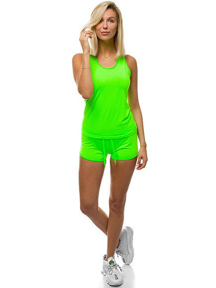 Sportanzug Trainingsanzug T-Shirt Kurzhose Shorts Fitness Damen OZONEE Z//D1006